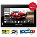 Autoradio Android 6.0 CREATONE AMG-7001 | 2DIN Naviceiver | GPS Navigation (aktuelle Europa-Karten mit Radarwarnungen) | DAB+ DigitalRadio | DVD-Player | Touchscreen 7 Zoll (18cm) | USB bis 4TB l Quad-Core Cortex A7 CPU | 16GB integriert | 4K Ultra HD 384