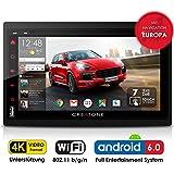 Autoradio Android 6.0 CREATONE AMG-7001 | 2DIN Naviceiver | GPS Navigation (aktuelle Europa-Karten mit Radarwarnungen) | DAB+ DigitalRadio | DVD-Player | Touchscreen 7 Zoll (18cm) | USB bis 4TB l Quad-Core Cortex A7 CPU | 16GB integriert | 4K Ultra HD 3840x2160 Video Unterstützung | WLAN | Bluetooth 4.0 (iOS und Android) | MirrorLink | OBD 2 | RDS