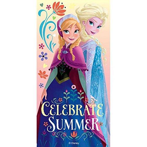 Frozen - telo da mare celebrate summer (kids euroswan wd15020)