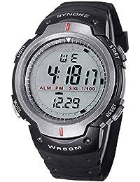 ufengke® hombres temporizador s deportes de natación que se ejecutan reloj de pulsera digital con correa de caucho de color gris