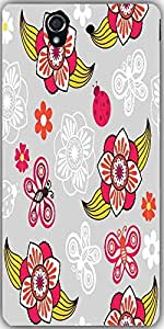 Snoogg Spring Seamless Pattern With Flowers And Ladybirds Designer Protective...