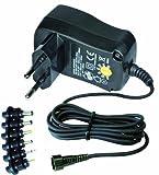 Transmedia Netzteil 300-600 mA ERP stabilisiert mit Euro- und DC-Einzelstecker 100-240V / 3 / 4.5 / 5V NE0,3L