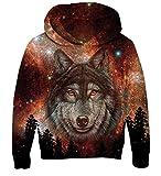 Goodstoworld Wolf Hoodie Boy Girl Kids Sudadera Lobo niño con Capucha 3D Niñas Sudadera Impresion Gráfica Colorida y Fresca Divertido vestidura