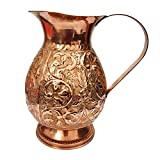 #9: Handmade Designer Best Quality Pure Copper Jug Pitcher Capacity 1.5 Liter Good Health Benefits Indian yoga Ayurveda