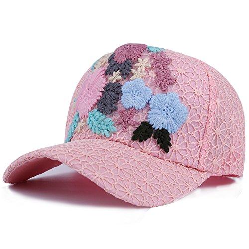 Berretto da Baseball delle signore/Moda cappelli/Coreano ricamo Cap-B (Signore Blu Visor)