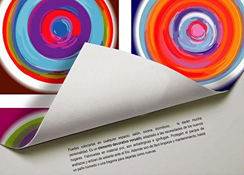 Cuzzco Alfombra de Vinilo Infantil, PVC y Plástico, 100.00x100.00x0.40 cm