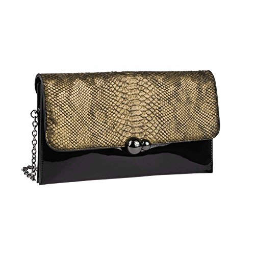 OBC Only-Beautiful-Couture, Poschette giorno donna argento argento ca.: 30x16x3 cm (BxHxT) gold