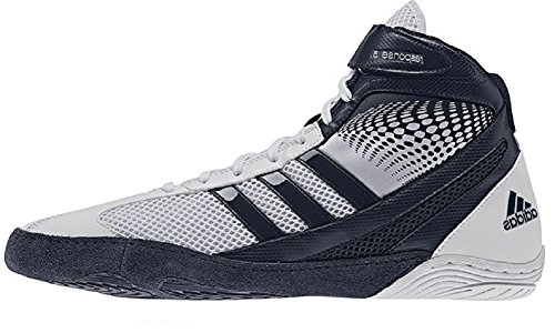 Adidas Response 3.1 Wrestling Chaussures - Noir / gris / blanc / or solaire - 5 White/navy