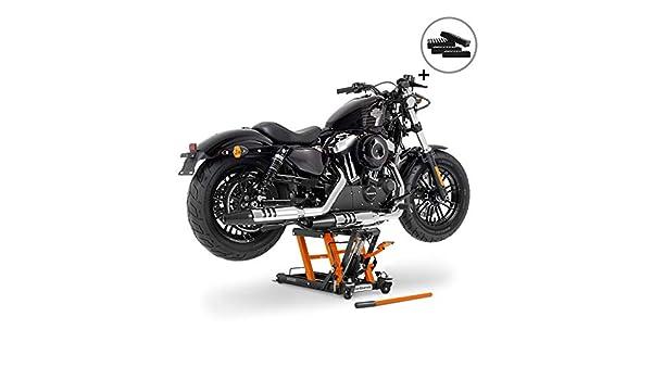 4 Blocs de Caoutchouc Bequille dAtelier Cric Moto Hydraulique Lift ConStands L Noir-Orange INCL