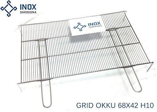 Grille en acier inoxydable barbecue Okku grand 68X42