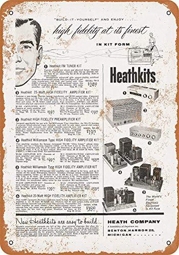Froy 1955 In Heathkit Stereo Systems Wand Blechschild Retro Eisen Poster Malerei Plaque Blech Vintage Personalisierte Kunst Kreativität Dekoration Handwerk Für Cafe Bar Garage Hause