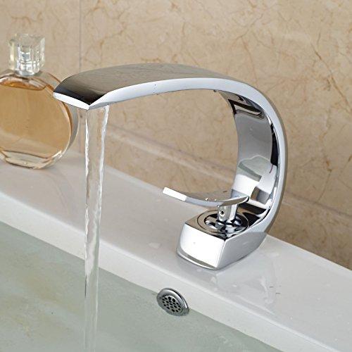 Zeitgenössische Deck Mount One Hole Single Control Waschbecken Wasserhahn mit Chrom-Finish verbreitet Toilette Mischbatterien Badewanne Vanity Armaturen -