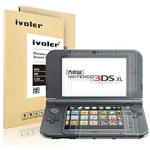 [6 Stück] Nintendo New 3DS XL Displayschutzfolie Schutzfolie, iVoler HD-Kristall