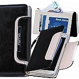 Original Numia Design Luxus Bookstyle Handy Tasche Samsung I9295 Galaxy S4 Active Schwarz Weiss Flip Style Case Cover Gehäuse Etui Bag Schutz Hülle NEU