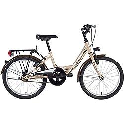 F.Lli Schiano Mirta 1V Bicicleta, Beige/Marrón, 20 Unisex