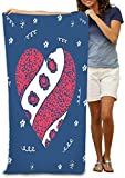 shdgfhdfghdf 31x51 Inch High Absorbency Bath Towel Lightweight Large Bath Sheet for Beach Home Spa Pool Gym Travel Greeting Card Print Valentine s Day World Heart Hand Drawn red Pattern