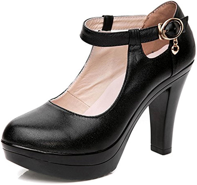 YR-R Bombas De Tacón Tobillo Stra Strap Platform Tacones Altos Para Damas Light Night Club Court Shoes