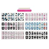 CICI&SISI Nail Art Nail Wraps 54 Creative Fashionable Nail Designs 6 Packs of Nail Stickers CSNW15-02