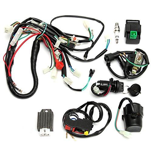 GOZAR Draing Harness Loom Start Switch Kit Pit Bike ATV 4 Go Kart 50Cc 110Cc 125Cc