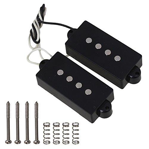 yibuy 8.06K 4Saiten Humbucker Tonabnehmer für PB Gitarre schwarz