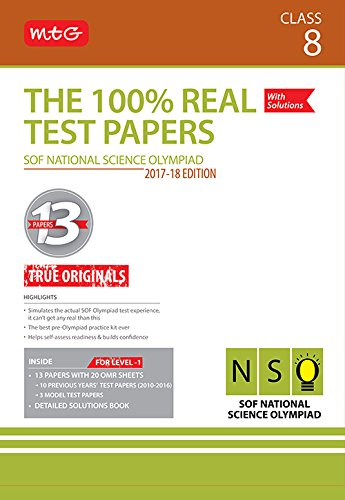 The 100% Real Test Papers (NSO) Class 8