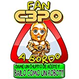 Pegatina Star Wars fan C3PO a bordo