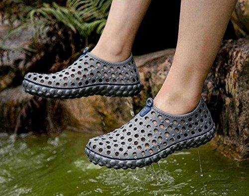 GLTER Scarpe Slip On Loafers Uomini Estate Clogs Sandali Scarpe Confortevole Spiaggia Respirabile Scarpe Casual Giovane Silver