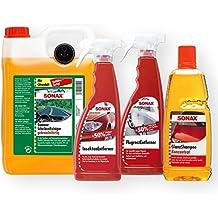 Sonax Auto exterior Cuidado Juego de 4piezas de limpiacristales Champú Eliminador de insectos