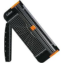 Cobee cortadora de papel titanio 12inch A4cortador con automático Seguridad Safeguard, color negro