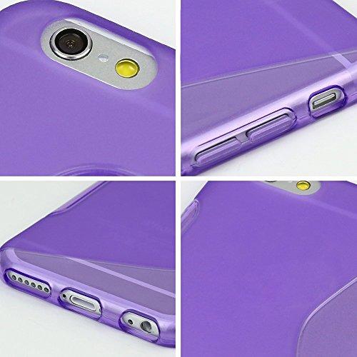 wortek® TPU Silikon Schutzhülle S-Line + extra Grip Apple iPhone 6 (4,7 Zoll) Schwarz iPhone 6 - Lila