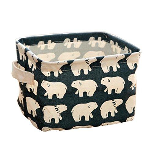 iTemer kosmetik koffer make up tasche Aufbewahrungsbox Stoff Ablagebox Tiere und pflanzen muster(eisbären)