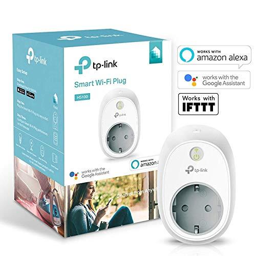 TP-Link Presa Wi-Fi HS100, Smart Plug Compatibile con Alexa e Google Home,...