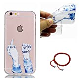 GOCDLJ Funda para iPhone 6 TPU Silicona Transparent iPhone 6S Carcasa Ultra Delgado Fino y Resistente a Caidas Case Teléfono Caso Cover Diseño Dedo