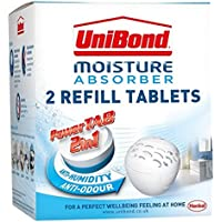 UniBond Pearl Moisture Absorber Neutral Refill Tabs, Pack of 2