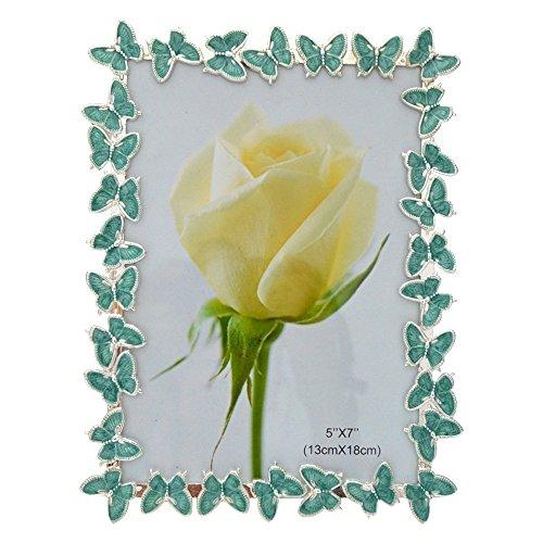 Giftgarden® Cornici da Tavolo Farfalla Ornativa Verde 13 x 18 cm
