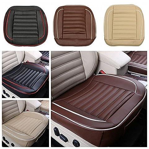 50x 50cm PU Leather auto cushion Seat Chair Coque Black/Beige/Coffee voiture interior Pad Mat