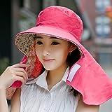 Baodery L'Estate È Femmina - Outdoor Sun Cappuccio Di Protezione Proteggono I Capezzoli Irritati Sulla Faccia - Sun Hat Hat Hat Lungo A Guidare Il Sun.,Size (54),59Cm Rose Red