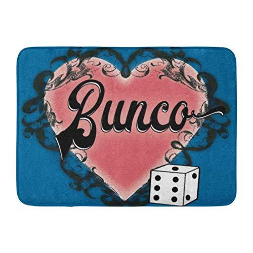 LIS HOME Badematte Party Bunco Herz Tattoo Vintage Supplies Preise Würfel Badezimmer Dekor Teppich