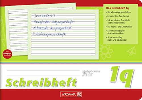Schreibheft / Schulheft LINEATUR 1q (Din A5 / 16 Blatt / quer) FÜR RECHTS- UND LINKSHÄNDER