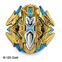 Christ For Givek Beyblade Fight Masters Fusion Spinning Top Spinning Top Single Gyro Metal Speed Toy and Gifts Interesting for Children 1PC( Gold version B120)