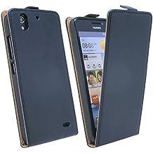 Fr-Funda con tapa para Huawei Ascend G630 incluye todos los colores negro negro