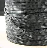 10 Meter Gewebeschlauch Ø 3-65 mm Geflechtschlauch PET Isolierschlauch Kabelschutz Kabelschlauch (15-27 mm)