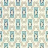 Papier peint Arthouse à quartz, bleu sarcelle, 53 cm x 10.05 m