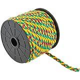 Suki PP cuerda, Amarillo/Verde/Rojo, trenzado 6mm x 20m, 20unidades, 3818061