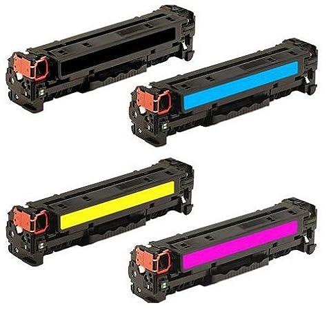 Pack 4 INK INSPIRATION® Compatibles Toner Laser pour HP LaserJet Pro Color MFP M476dn, M476dw, M476nw | Remplacement pour HP 312X 312A (CF380X, CF381A, CF382A, CF383A) | Noir: 4400 Pages & Cyan/Magenta/Jaune: 2700 Pages