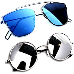 Y&S Stylish Sunglasses Shades for Womens | Mens | Boys | (BIK-CM-YSDISBM-YSRDSSM)