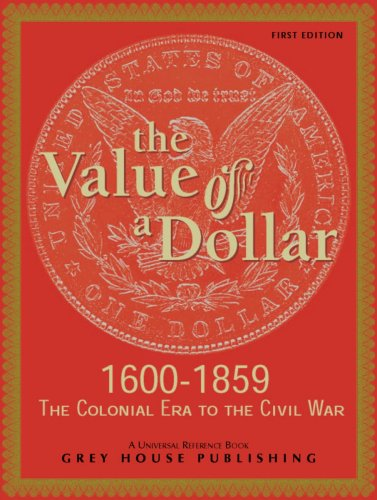 The Value of a Dollar 1600-1865 Colonial to Civil War, 2005 (1865-dollar)