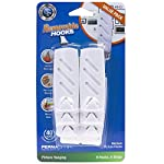 PermaStik Removable Utility Picture Hangers Value Pack, 6 Hooks & 6 Adhesive Strips, Holds 1.5kg Each, White