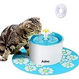 AOLVO Fuente de Agua para Perro y Gato Flor con Filtro, 8pcs 1,6