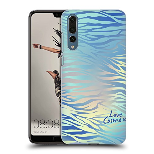 Official Cosmopolitan Shiny Zebra Iridescence Hard Back Case for Huawei P20 Pro (Zebra Hard Case, Snap)